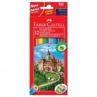 """Карандаши 12 цветов Faber Castell """"Замок"""""""