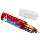 "Карандаши 10цветов Faber Castell ""Grip 2001"" пластиковый пенал"